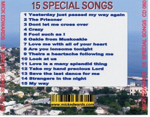 15 Special Songs Back